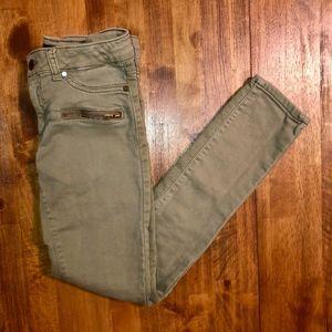 JOE'S JEANS Olive Green Skinny Jeans Girls Size 14